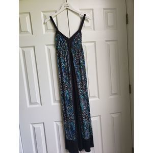 BeBop Black and Teal Maxi Dress